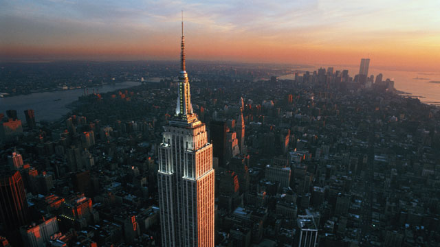 PHOTO: An elevated view of the Empire State Building in New York City.