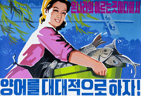 gty fish ll 111221 wblog North Korean Propaganda Posters