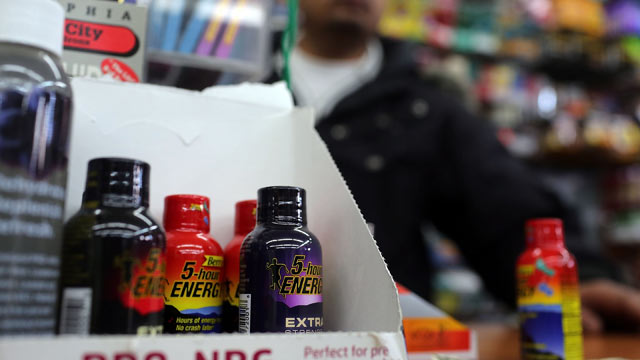 PHOTO: The drink 5-Hour Energy is viewed for sale at a grocery store on November 15, 2012 in New York City in this file photo.