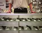 PHOTO: Guns are displayed in a gun shop in Bellevue, Washington.