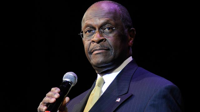 PHOTO: Republican presidential hopeful Herman Cain speaks at the Western Republican Leadership Conference at The Venetian,Las Vegas, Nevada in this Oct. 19, 2011 file photo.