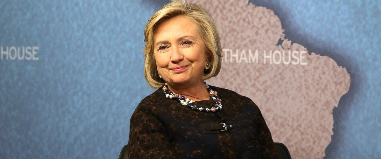PHOTO: Former Secretary of State Hillary Clinton waits to answer questions from an audience at Chatham House on Oct. 11, 2013 in London, England.
