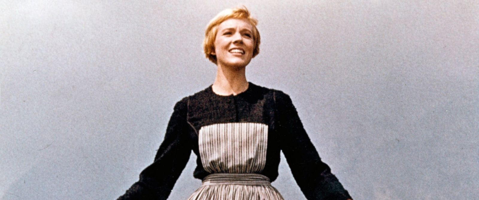 """PHOTO: Actress Julie Andrews performs musical number in the movie """"The Sound Of Music"""" directed by Robert Wise."""
