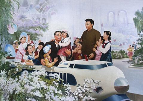 gty kim il sung kim jung il ll 111221 wblog North Korean Propaganda Posters