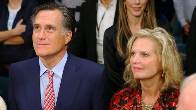 PHOTO: Mitt Romney and Ann Romney sit ringside before Manny Pacquiao takes on Juan Manuel Marquez in their welterweight bout at the MGM Grand Garden Arena on Dec. 8, 2012 in Las Vegas.
