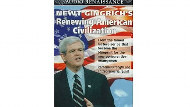 PHOTO: Newt Gingrich's Renewing American Civilization audio cover.