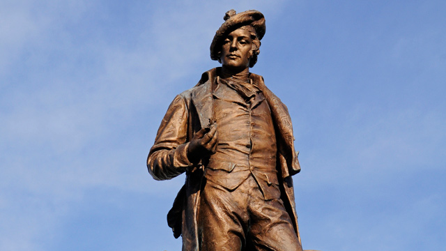 PHOTO: A Robert Burns statue in Pittsburgh, Pa.