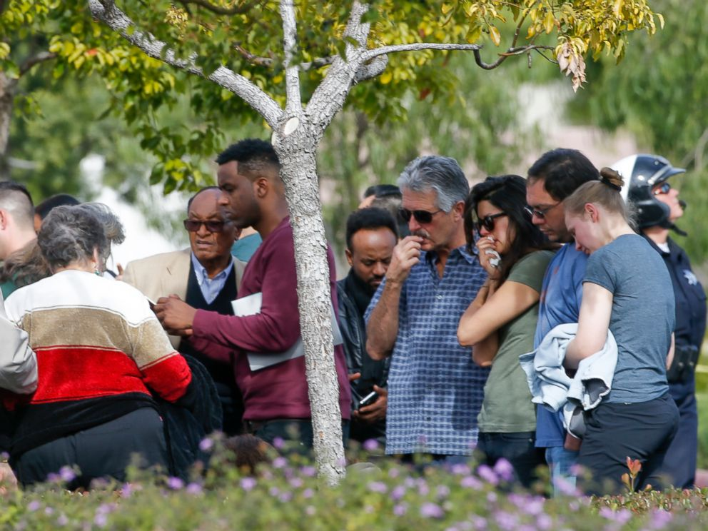 PHOTO: One week after the mass shooting at the Inland Regional Center in San Bernardino, the families and loved ones of the victims were allowed to stand outside the building for a quiet look, Dec. 9, 2015.