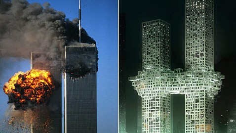 gty world trade 911 the cloud jp 111212 wblog Anger Builds Over Tower Design Resembling 9/11 Explosion