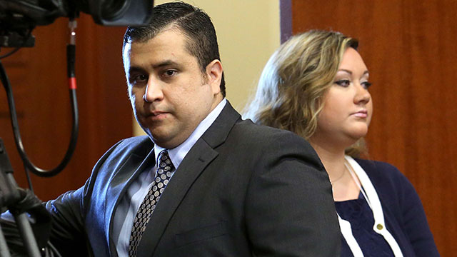 PHOTO:George Zimmerman arrives with his wife Shellie, on the 11th day of his trial in Seminole circuit court June 24, 2013 in Sanford, Fla.