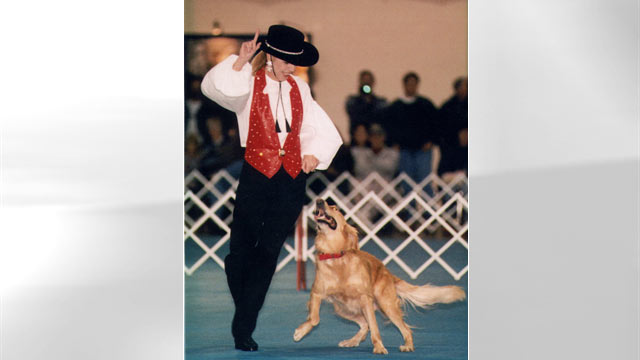 PHOTO: Carolyn Scott and Rookie compete in their first dance competition.