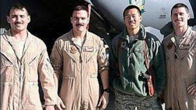 PHOTO: U.S. Air Force Captains Joseph Stenger, Jonathan Hudgins, Joshua Carroll and Ryan Bodenheimer