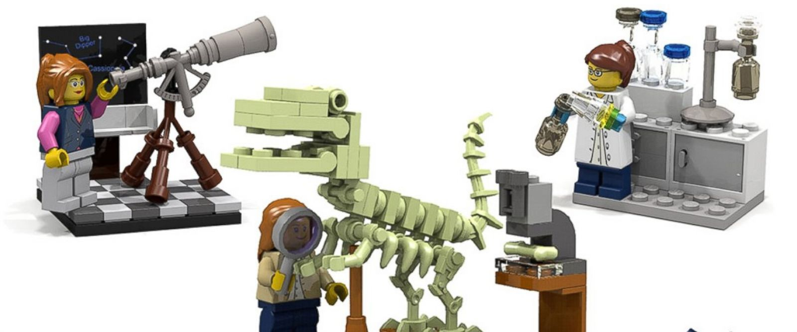 PHOTO: Lego has started to develop a new series of figurines featuring female scientists.