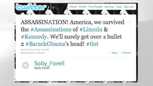 conservative blogger investigated after he calling for assassination of President Obama via twitter