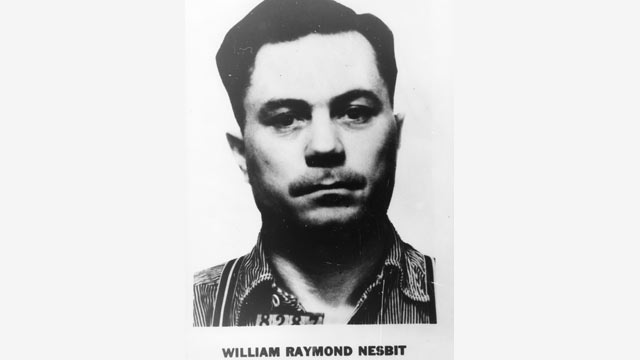PHOTO: William Raymond Nesbit was the first fugitive to be captured as a result of the 10 most wanted list.