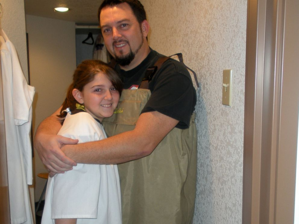 PHOTO: Brian Jennings, pictured with his daughter Abby Jennings, was killed after stopping to help a stranded motorist.