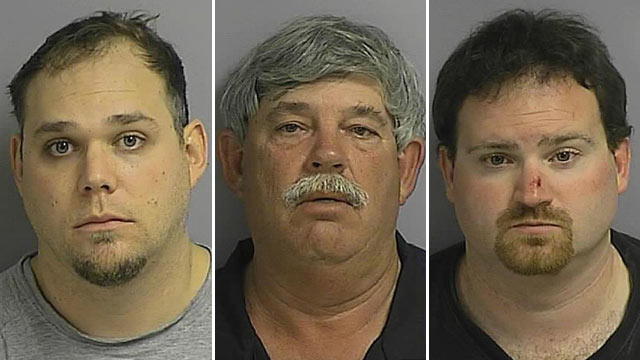 PHOTO: (l-r) Roy Alexander, Stephen Wesley Thomas and Bryan Allen Woodward are among the 40 arrested in underage sex sting operation.