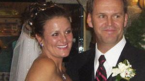 Joan Baruffaldi with her husband, Robert Harris.