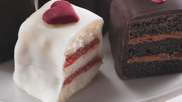 PHOTO: Seen here is Bissinger's Petite cakes, a 'Made in America' gift for Valentine's Day.
