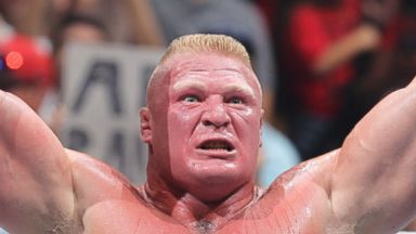 PHOTO: Brock Lesnar is the new WWE Heavyweight Champion after defeating John Cena at the WWEs SummerSlam in Los Angeles, California on Aug. 17, 2014.