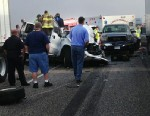 PHOTO:At least two people have died and at least 48 people were transported to the hospital after a 100 car pileup in Texas, Nov. 22, 2012.
