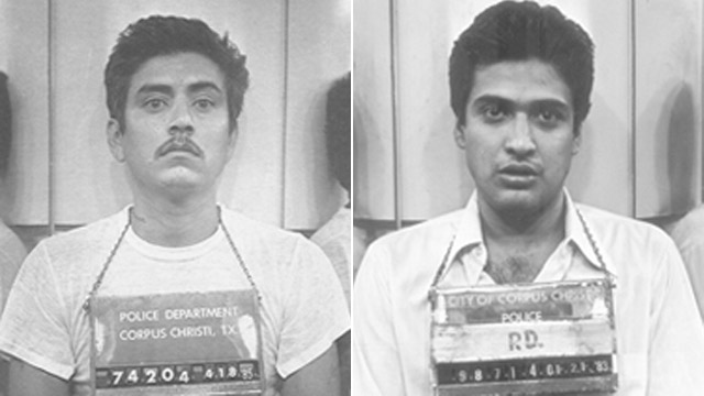 PHOTO: Carlos Hernandez, left, and Carlos DeLuna, right, are shown in these Corpus Christi Police Department booking photos.