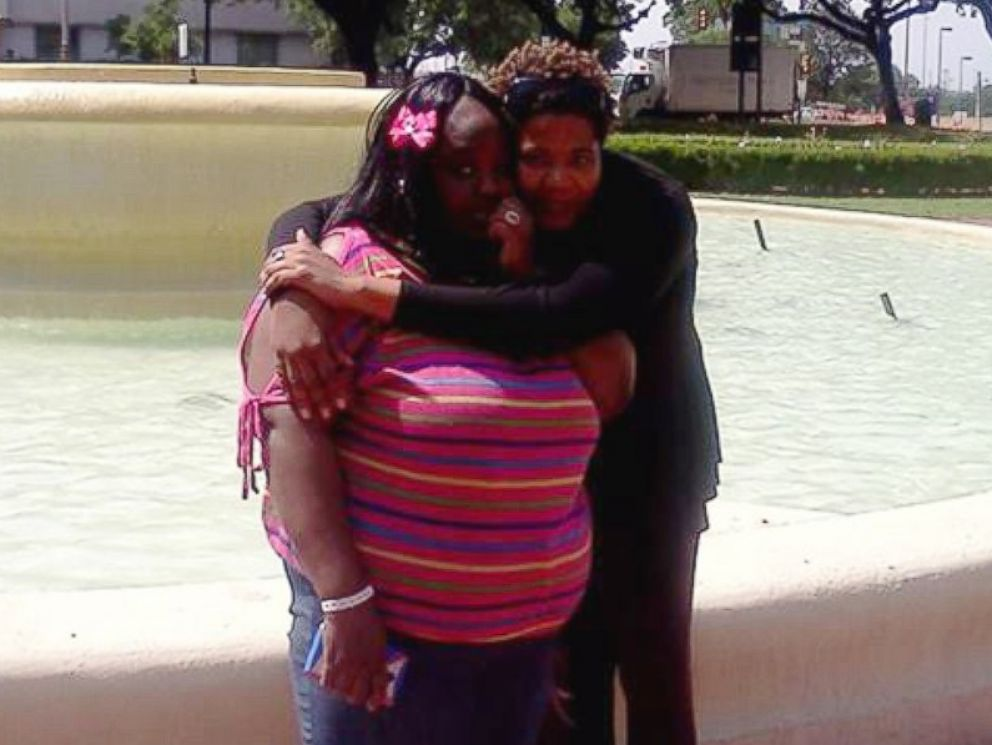 PHOTO: Charity Johnson (left) with Osarieme Obaseki in Dallas on Mothers Day weekend.