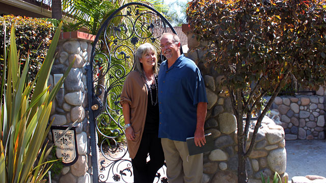 PHOTO:San Juan Capistrano, Calif. couple Chuck and Stephanie Fromm have been fined for holding weekly Bible studies in their home.