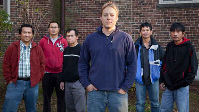 PHOTO: Left to right: Gunawan Liem, Rovani Wangko, Arino Massie, Seth Kaper-Dale, Roby Sanger, and Harry Pangemanan. Kaper-Dale aided the other men, who took sanctuary at a New Jersey church instead of complying with U.S. orders to deport to Indonesia.