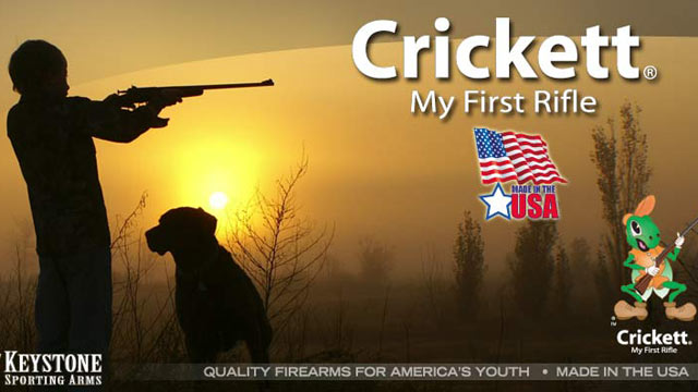 "PHOTO: The youth firearm, ""My First Rifle,"" is shown advertised on Cricketts website."