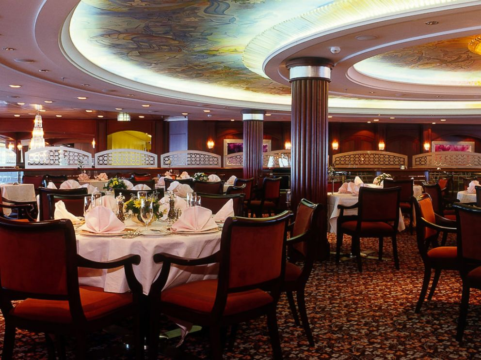 PHOTO: The Crystal Serenitys Crystal Dining Room is pictured.