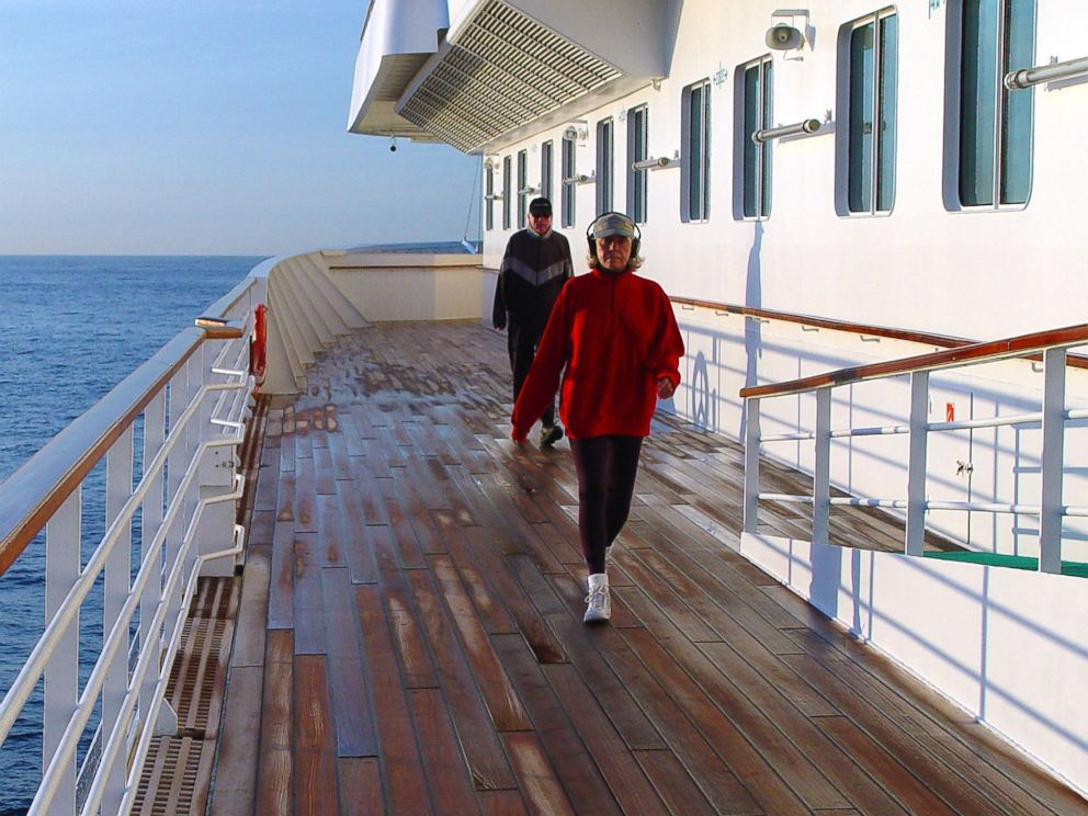 PHOTO: The promenade deck of the Crystal Serenity is pictured.