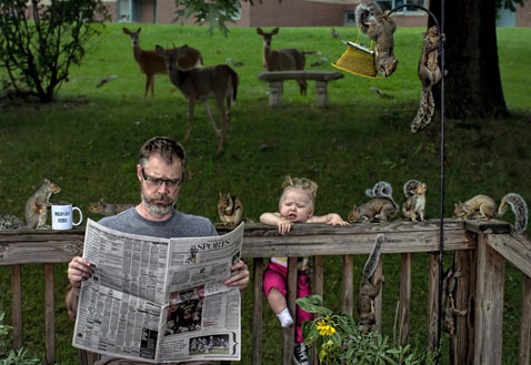 ht dave engledow portraits animals mess thg 120926 wblog Alice Bee and The Worlds Best Father