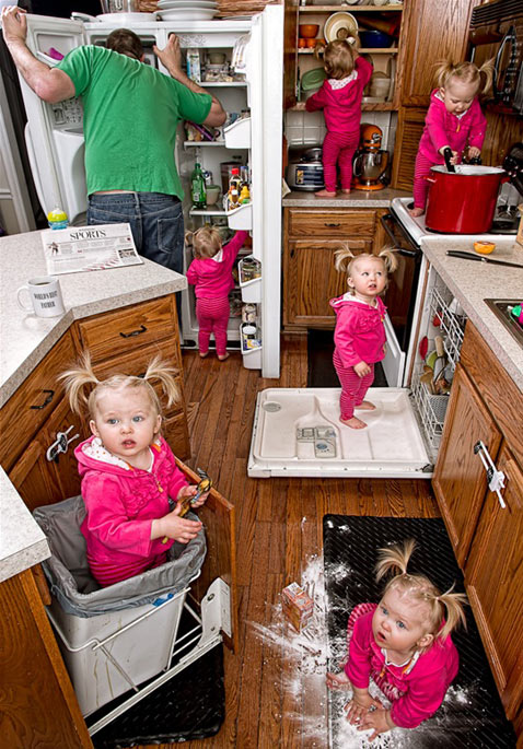 ht dave engledow portraits kitchen mess thg 120926 wblog Alice Bee and The Worlds Best Father