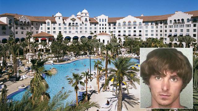 PHOTO: David Price was arrested at the Loews Portofino Bay Hotel in Orlando, Fla., June 28, 2012.