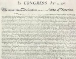 PHOTO:The United States Declaration of Independence