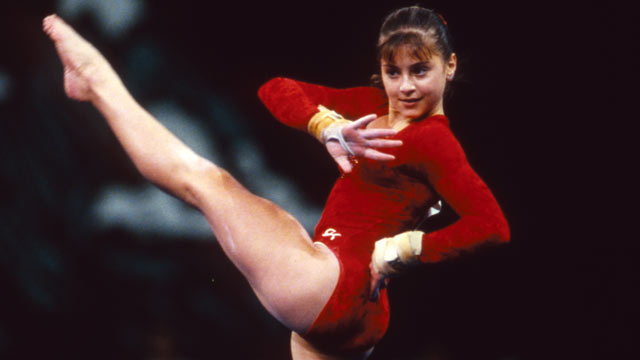 PHOTO: In 1995, at the age of 13, Dominique Moceanu became the youngest gymnast ever to win the U.S. National Championships.