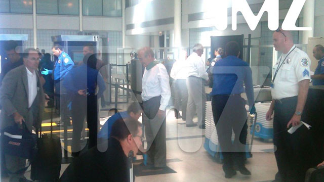 PHOTO: Donald Rumsfeld was stopped by airport security Wednesday as part of a normal security precaution.