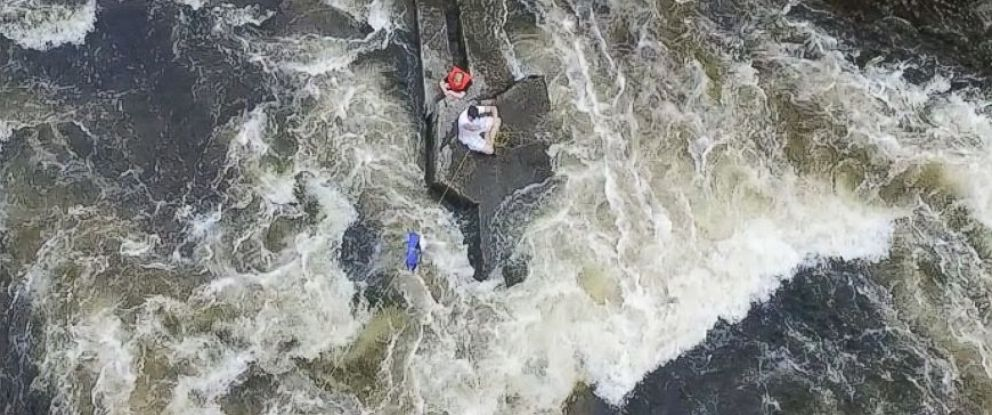 PHOTO: A drone helped rescue two boys from the Little Androscoggin River in Mechanic Falls, Maine on June 30, 2015.