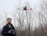 """PHOTO: Journalism students at the University of Missouri School of Journalism practice flying """"J-Bots"""", or journalism drones, which are being used to gather coverage in news reporting."""
