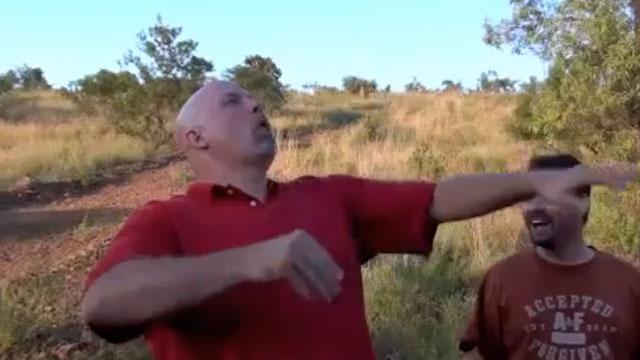 PHOTO: Kudu dung spitting contest