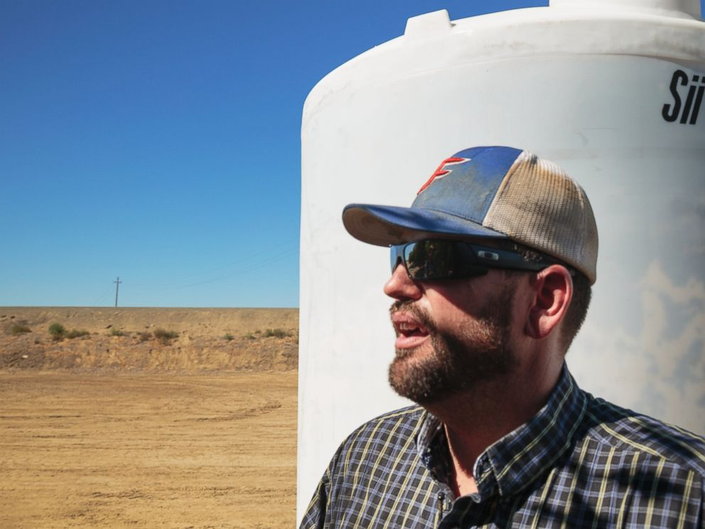 PHOTO: Beau BJ Diedrich starts up his pump to get water to his almond orchards in Cantua Creek, Calif. on July 1, 2014.