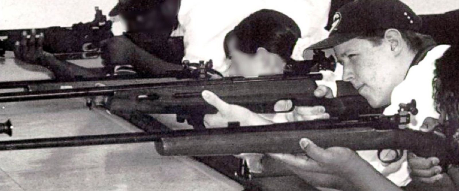 PHOTO: Shooting suspect Eric Fein is pictured at rifle team practice in a photo from the 2001 Pocono Mountain High School yearbook.