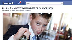Photo: Boy, 12, Dies Playing Choking Game Erik Robinson Accidently Strangled Himself With a Rope to Achieve Brief High