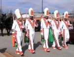 PHOTO: In this image from a video on the Rattler Nation blog, members of the Florida A&M University marching band lead a horse-drawn carriage carrying the casket of Robert Champion on Nov. 30, 2011 in Decatur, Ga.