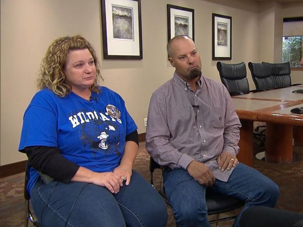 PHOTO: Lisa Schemm and David Schemm told ABC News that they believe football is not to blame for the death of their 17-year-old son Luke Schemm, who died Nov. 4, 2015 after collapsing at a recent game.