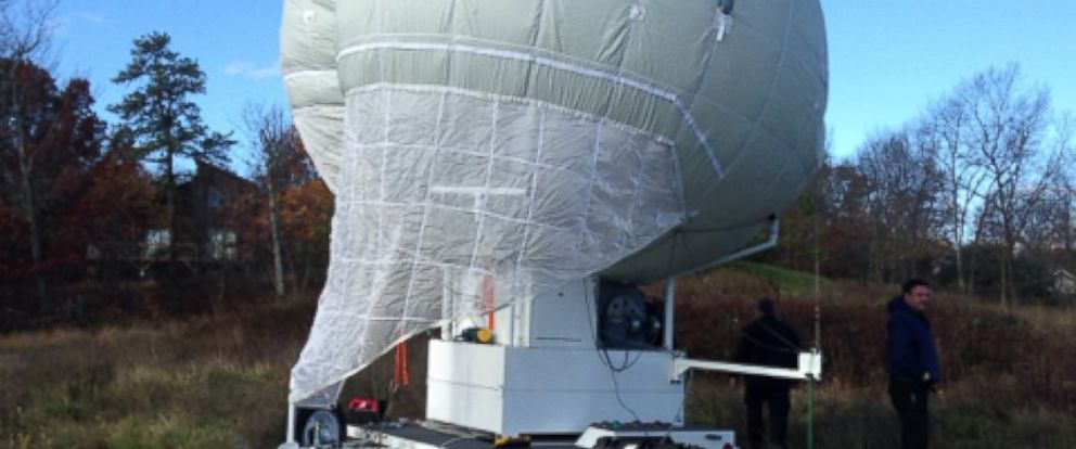 PHOTO: The Ohio Department of transportation has donated the use of a large Mylar balloon to assist the Pennsylvania State Police in their search for Eric Frein.