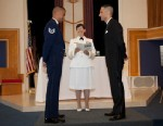 """PHOTO: Tech. Sgt. Erwynn Umali, 34, and civilian Will Behrens, 35, held their wedding at the Joint Base McGuire-Dix-Lakehurst in N.J. in June, the first gey wedding to be held on a military base since the repeal of """"Dont Ask, Dont Tell""""."""