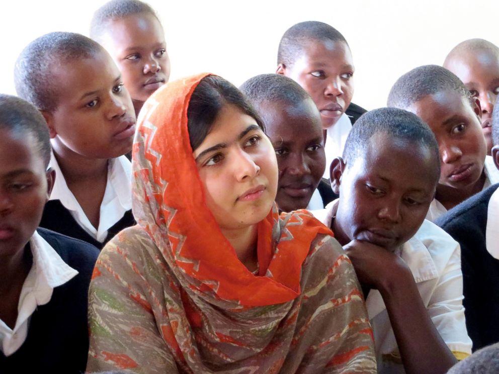 PHOTO: Malala Yousafzai is pictured at the Kisaruni Girls School in Massai Mara, Kenya on May 26, 2013.