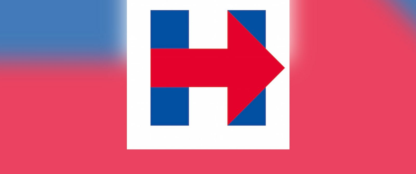 PHOTO: Hillary Clintons campaign logo is pictured.